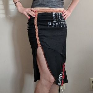Upcycled T-shirt Pencil Skirt